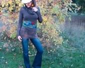 Sweet Caress Cowl Neck tunic in Hemp and Organic Cotton