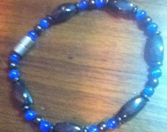 Blue Cat's Eye and Magnetic Anklet