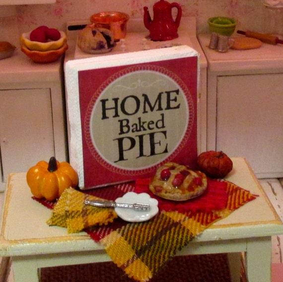 Cherry Pie Prep Scene-Dollhouse Miniature 1:12 Scale