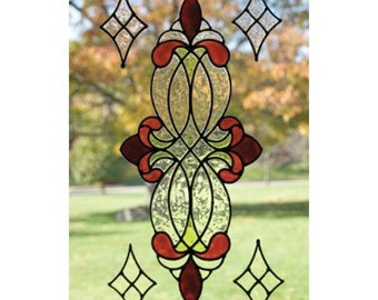 Victorian Burgundy Clear Window Cling Set
