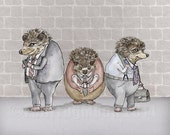 Urban Hedgehogs print