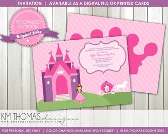 Princess Castle Birthday Invitation : Girls Princess Birthday Party - Princess Party Invitation - Horse and Carriage - Printable - BD150