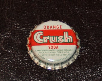 One vintage unused Orange Crush cork lined bottle cap