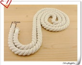 2 yard of 15mm Twisted cotton rope for handbag handle making    L14