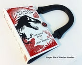 Jurassic Park Recycled Book Purse - The Lost World Book Cover Purse - Natural History Gift
