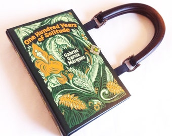 One Hundred Years of Solitude Recycled Book Purse - Gabriel García Márquez Book Clutch - Leather bound Pocket Book