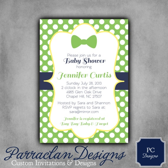 bow tie baby shower invitation little man invitation printable