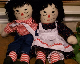 "20"" raggedy ann and andy"