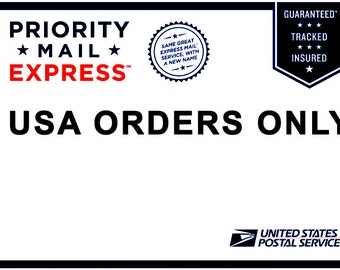 USA Orders only - Upgrade Shipping to Priority Mail Express