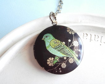 Bird Locket Necklace - A Ray of Hope