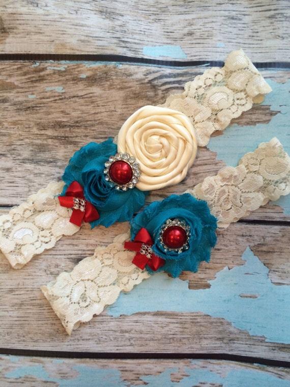 CIRCUS theme /  wedding garter / bridal  garter/  lace garter / toss garter / Something BLue wedding garter / vintage inspired lace garter