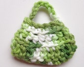 Handmade Barbie Clothes Purse Handbag Crochet Green Variegated