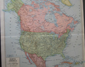 Large Color Map of North America
