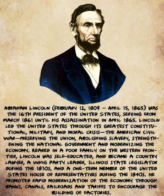 President Abraham Lincoln png US politics by ...