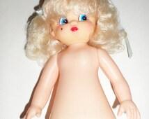Vintage Blonde Air Freshener Doll Body - Blonde Pig Tails - Blue Eyes - Beauty Mark - Air Freshener Doll - Doll Making - Craft Supply