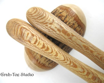 Hair Sticks Spalted Sycamore Wood Hair Bullets Grahtoe Handmade