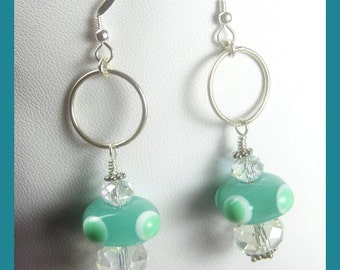 BirdDesigns Handmade Lampwork Earrings - ooak - J557