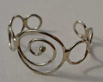 Nickel Silver Bracelet, Cuff Bracelet