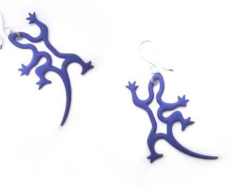 Midnight Light Gecko Earrings