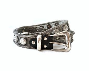 FINN French Vintage Studded Metal Belt