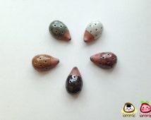 Dark Brown Ceramic Porcupine, hedgehog, porcupine figure, ceramic animal, tiny animal, small, little animal, decoration, miniature animal