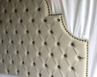 QUEEN Size Tufted Headboard Upholstered Headboard Queen Headboard Linen Headboard Upholstered Headboard Tufted Headboard