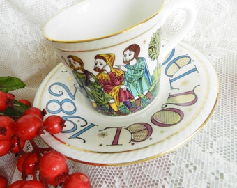 1982 Limited Edition Royal Doulton Teacup,  Noel Sheperds in the Field Teacup, Holiday Teacup, Christmas Tea Cup, NO39