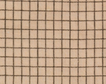 Vintage Feed Sack, Flour Sack, Pale Pink Background, with Thin Black lines forming a simple plaid, Excellent Condition, 36 by 45 inches