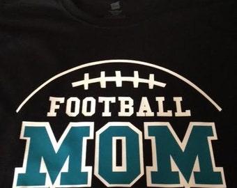 Football Mom Dad T Shirt Custom Colors