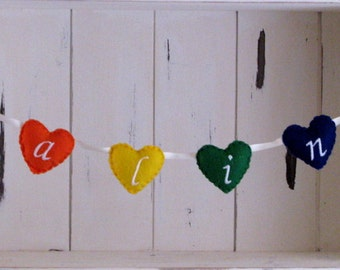 personalized heart banner