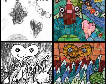 Your Child's artwork turned into a Mosaic