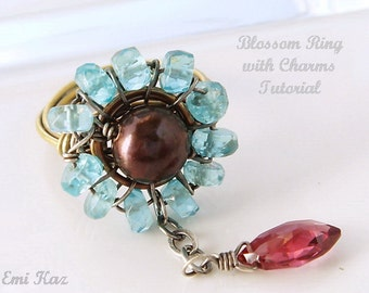 Wire Wrapped Jewelry Tutorial - Wrapped Ring, Wire Weaving, Jewelry Making - The Blossom Ring