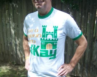 Vintage Mens Tshirt 1981 Hanes Adult Large Live a Legend with El Kay Shrewbury Ma Retro Tee