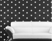 "Vinyl Dots 2"" set of 180 YOU CHOOSE COLOR Vinyl Polka Dot circle decal sticker wall art lettering"