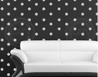 "Vinyl Dots 2"" set of 180 YOU CHOOSE COLOR Vinyl Polka Dot circle decal sticker wall art lettering"