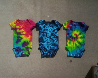 Triple Threat Tie Dye Baby Gift Set Choose Size