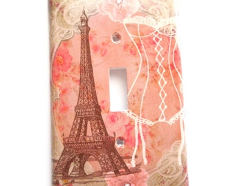 Paris Light Switch Art Cover - Sweet Memories