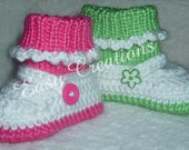PDF CROCHET & KNIT Pattern  Mary Jane Shoes with Attached Socks Pattern 0 to 9 month Digital