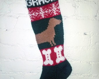 Christmas Stocking - Dachshund