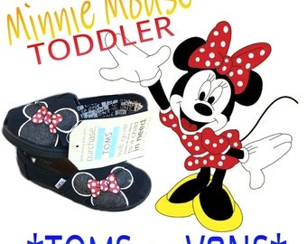 TODDLERS Black Minnie Mouse Shoes T2 -T11 NeW SH0ES lNCLUDED