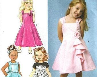 GIRLS DRESS PATTERN / Make Flower Girl - First Communion - Fancy Dress / Sizes 2-5 or 6-8