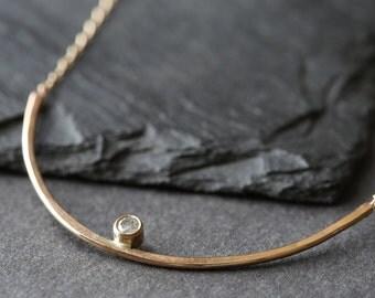Arc Diamond Necklace