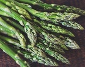 Kitchen Decor, Asparagus Photo, Vegetable Photograph, Food Photography, Kitchen Wall Art, Veggie Print, Green, Brown, Fine Art Photography