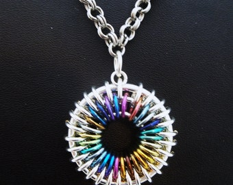 Colorful Sunburst Necklace