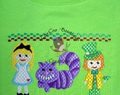 Smocked Style Applique Tee Shirt your choice
