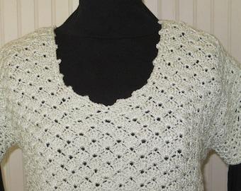 Beautiful Cream color Crocheted Pullover