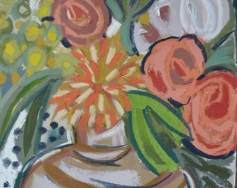 """12""""x12"""" Floral Giclee on Fine Art Paper """"Rowans Blooms"""""""