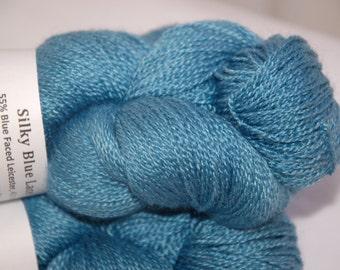 Studio June Yarn Silky Blue Lace (Silk/BFL) - Teal