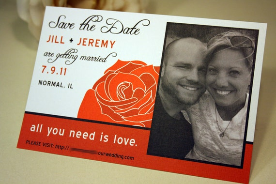 All You Need Is Love Wedding Invitations: Items Similar To SAMPLE All You Need Is Love Rose Wedding