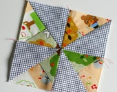 Tiny blocks tutorial series: wee pinwheel. TKF Patterns and tutorials. TKF Patchwork essentials